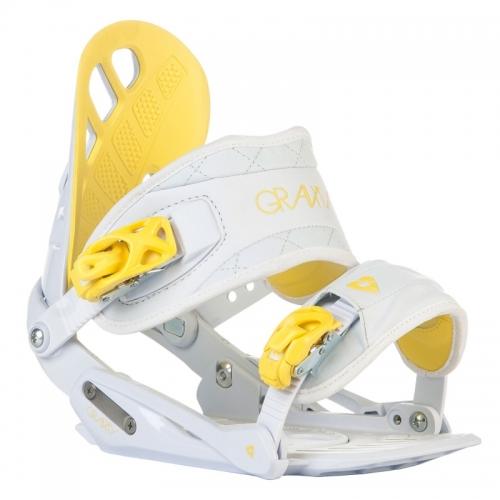 Dámské snowboardové vázání Gravity G1 Lady white/yellow bílé/žluté - AKCE1