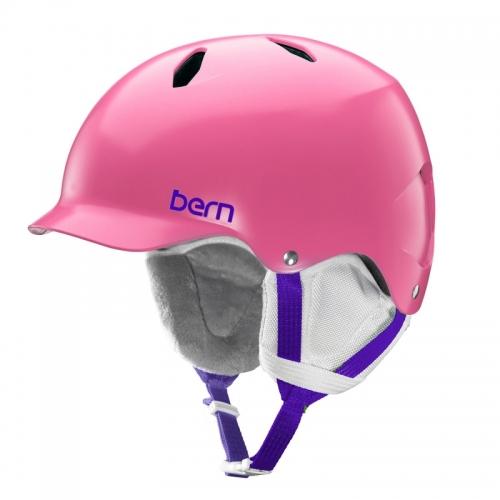 Snowboardová helma Bern Bandita Satin pink - AKCE1