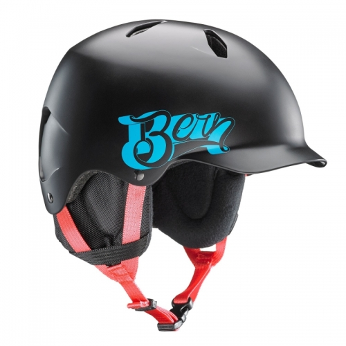 Snowboardová helma Bern Bandito Satin black baseball - AKCE1