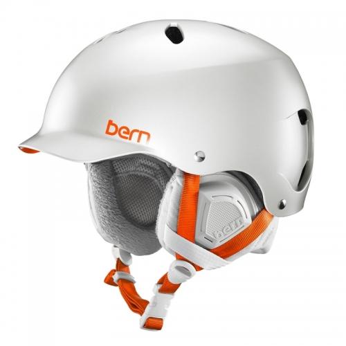 Snowboardová helma Bern Lenox Satin delphin grey - AKCE1