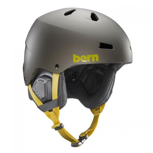 Snowboardová helma Bern Macon Matte charcoal grey - AKCE1