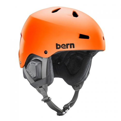 Pánská helma Bern Macon Matte orange - AKCE1