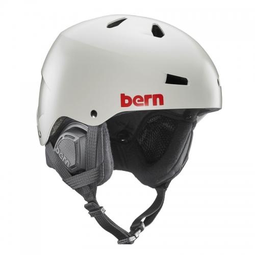 Snowboardová helma Bern Macon Satin light grey - AKCE1