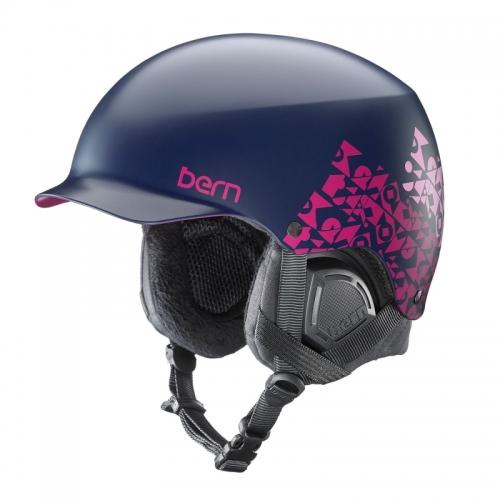 Snowboardová helma Bern Muse Satin navy geo graphic - AKCE1