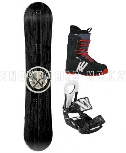 Snowboard komplet Apache černý - AKCE1