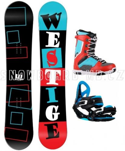 Snowboard komplet Westige Square červený - AKCE1