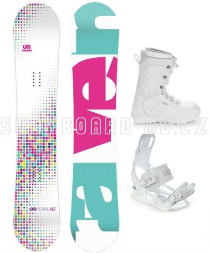 Dívčí snowboardový set Raven Pearl white 2017 - AKCE1