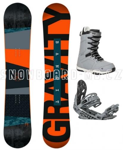Snowboardový komplet Gravity Bandit 17/18 - AKCE1