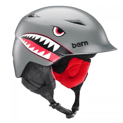 Chlapecká helma Bern Camino satin grey flying tiger1