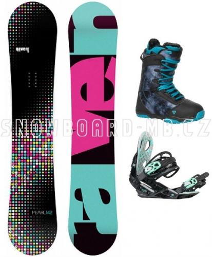 Dámský snowboard komplet Raven Pearl black/blue1