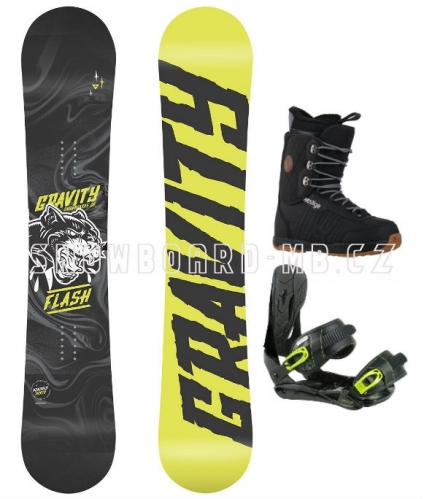 Snowboard komplet Gravity Flash yellow1