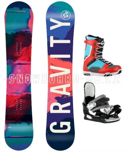 Dívčí a dámský snowboard komplet Gravity Fairy1
