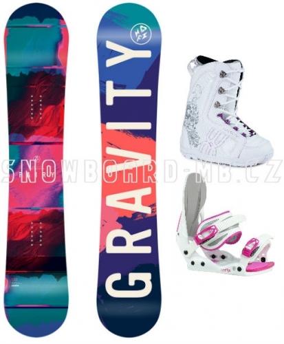 Dívčí snowboard komplet Gravity Fairy white1