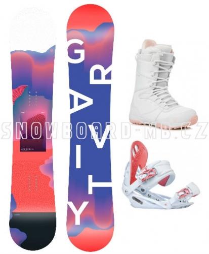 Dívčí komplet Gravity Fairy white (větší boty) 2019/20201