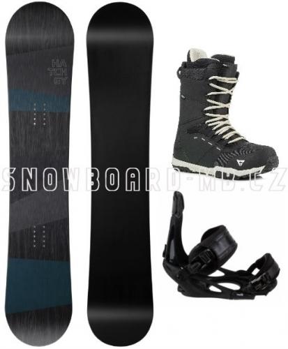 Snowboardový komplet Hatchey General s vázáním Head a botami Gravity1