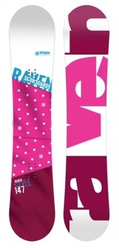 Dámský snowboard Raven Style pink1