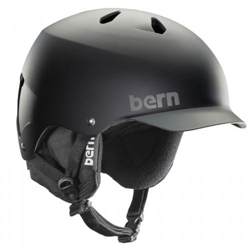 Snowboardová helma Bern Watts matte black/grey grim - AKCE1