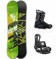 Snowboardový komplet Raven Patrol černý