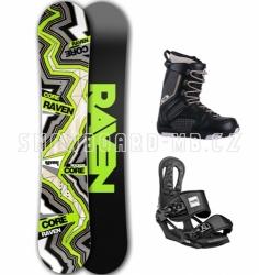 Snowboard komplet Raven Core Carbon černý