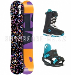 Dámský snowboard komplet Raven Grid black