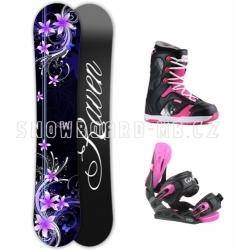 Dámský snowboard komplet Raven Flossy pink