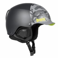 Snowboardová helma Bern Baker Matte black camo hatstyle