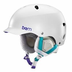 Snowboardová helma Bern Lenox Satin white