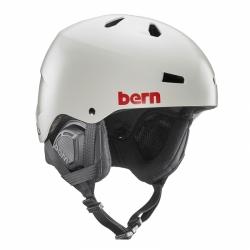 Snowboardová helma Bern Macon Satin light grey