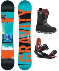 Snowboard komplet Gravity Contra red