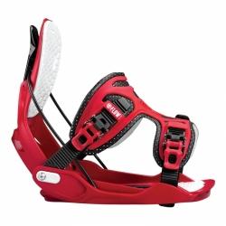 Snowboardové rychlozavírací vázání Flow Alpha red / červené