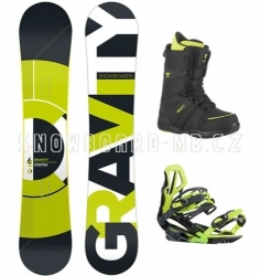 Snowboard komplet Gravity Contra lime