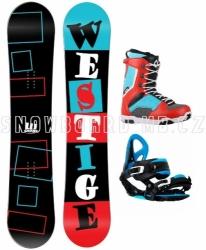 Snowboard komplet Westige Square červený