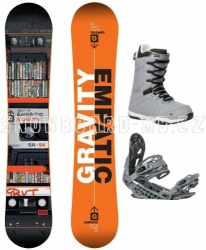 Snowboard komplet Gravity Empatic grey