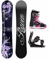 Dámská snowboard komplet Raven Flossy purple