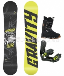 Snowboardový komplet chlapce juniory Gravity Flash yellow