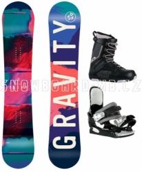Dívčí snowboard komplet Gravity Fairy black