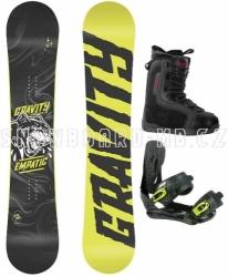 Snowboardový komplet Gravity Empatic yellow
