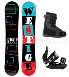 Snowboard komplet Westige Square black