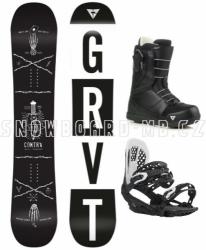 Snowboard komplet Gravity Contra (rychloutahovací boty)