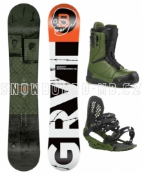 Snowboardový komplet Gravity Bandit, vázání G3, rychloutahovací boty Manual