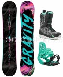 Dámský snowboard komplet Gravity Sublime s botami s rychlým zapnutím
