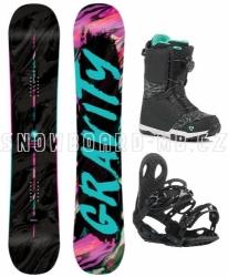 Dámský snowboard komplet Gravity Sublime, boty s rychlým utažením