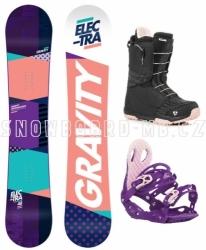 Dámský snowboard komplet Gravity Electra, rychlozapínací boty Fast Lace
