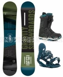 Snowboard komplet Gravity Cosa, boty Fast Lace nebo Atop kolečko
