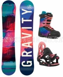 Dívčí barevný snowboardový komplet Gravity Fairy