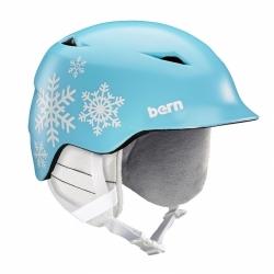 Dětská helma Bern Camino satin light blue snowflake 2019/2020