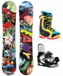 Dětský snowboard komplet Beany Heropunch Comics