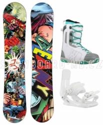 Juniorský dívčí snowboard komplet Beany Heropunch