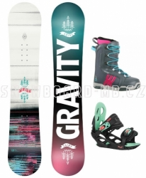 Juniorský snowboard komplet Gravity Fairy 2020/21