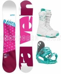 Dámský snowboardový komplet Raven růžový s botami Gravity